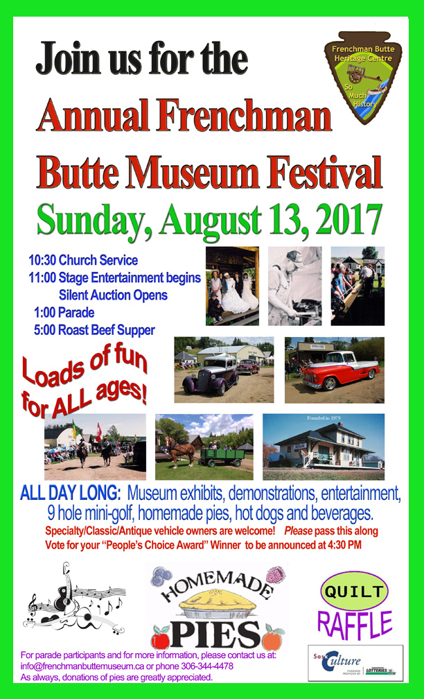 Annual Frenchman Butte Museum Festival 2016