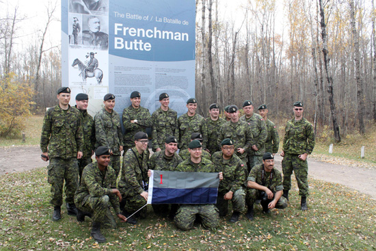 Our Canadian Military visits the Frenchman Butte Museum Historic Site